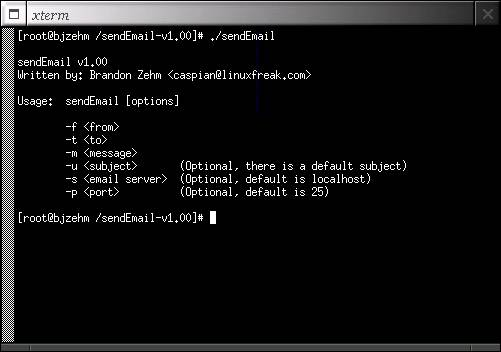 Software :: SendEmail - Send email with this free command