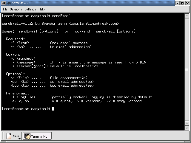 Software :: SendEmail - Send email with this free command line email